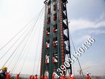 钢木结构消防训练塔